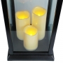 Lanterna Marroquina Decorativa C/ Velas LED Preta 58cm