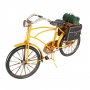 Miniatura Metal Retro Bicicleta Amarela 30cm