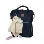 Mochila Maternidade Mommy Bag MM3263 Azul Marinho Original Clio
