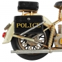 Moto De Metal Decorativa Retrô Police 1807 Verito