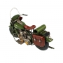 Moto De Metal Decorativa Retrô Verde Militar Arm 1807