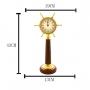 Relógio De Mesa Decorativo Em Metal E Madeira Dourado Royal Decor