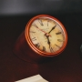 Relógio De Mesa Decorativo Em Metal Marrom 12cm Royal Decor