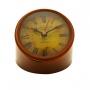 Relógio De Mesa Decorativo Em Metal Marrom 14cm Royal Decor