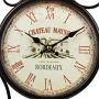 Relógio de Parede Dupla Face Chateau Mayne Rordeaux