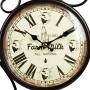 Relógio de Parede Dupla Face Farm Milk 1980 All Natural