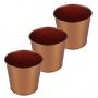 Suporte De Metal Retrátil C/ 3 Vasos Rose Gold Verito