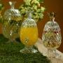 Suqueira De Cristal Ecológico C/ Pé E Tampa Mod. Abacaxi 3l