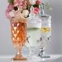 Suqueira De Cristal Ecológico Diamond Ambar C/ Torneira Rose 2l Lyor