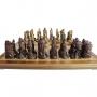 Tabuleiro De Xadrez Luxo Vikings 32 Peças