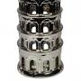 Torre de Pisa Decorativa Em Cerâmica Prateada 48cm Verito