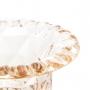 Vaso Decorativo C/ Pé Diamond Ambar Metalizado 14,5 x 11,5cm Lyor