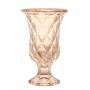 Vaso Decorativo C/ Pé Diamond Ambar Metalizado Lyor