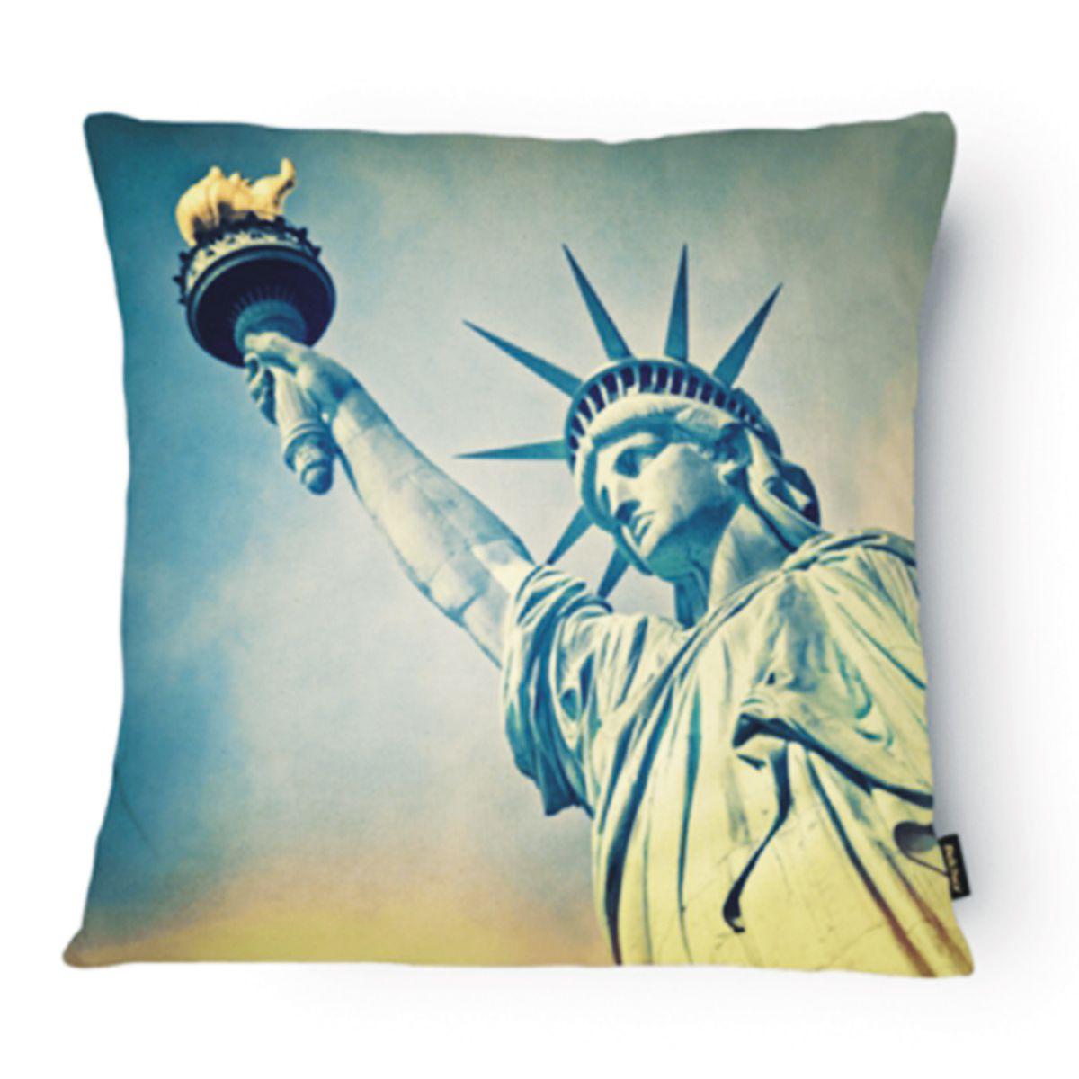 Almofada Tecido Nobre Design Nova York 43X43 CM