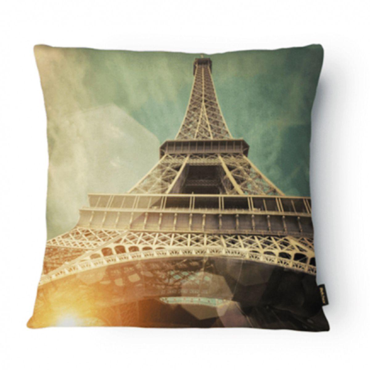 Almofada Tecido Nobre Design Paris 43X43 CM