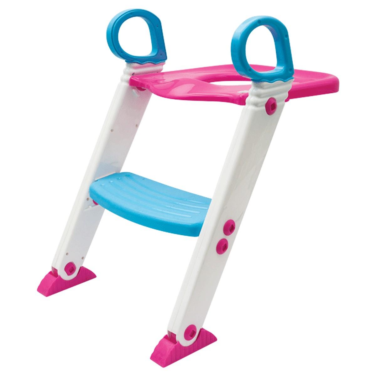 Assento Redutor Com Escada Azul e Rosa Buba
