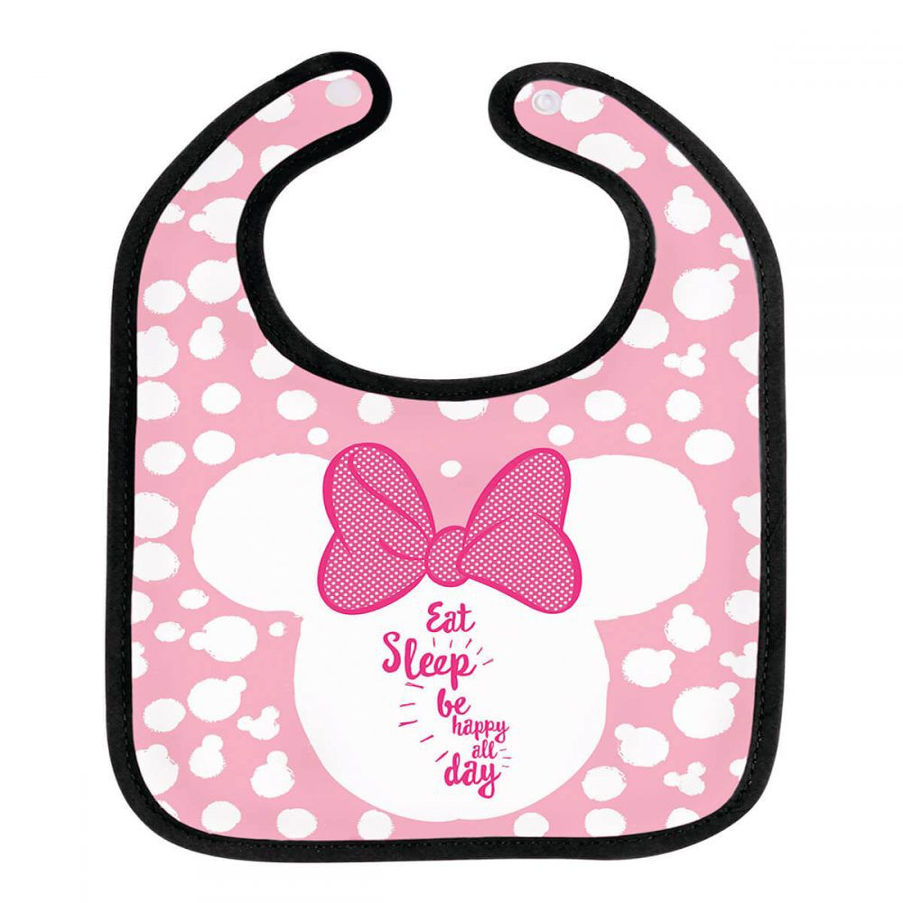 Babador Infantil Disney Minnie Mouse Baby BabyGo 1036 Oficial