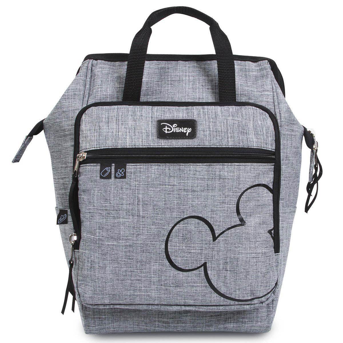 Baby Bag Mochila Maternidade Mickey Mouse Cinza c/ Trocador Disney