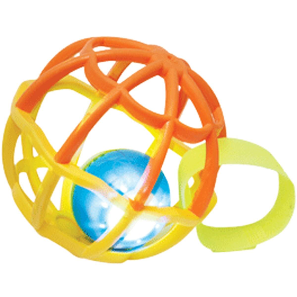 Baby Ball Com Luz e Som Laranja e Amarelo Buba