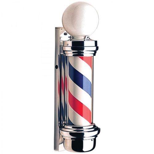 Barber Pole M Poste de Barbearia de Luxo Gira e Acende 220V