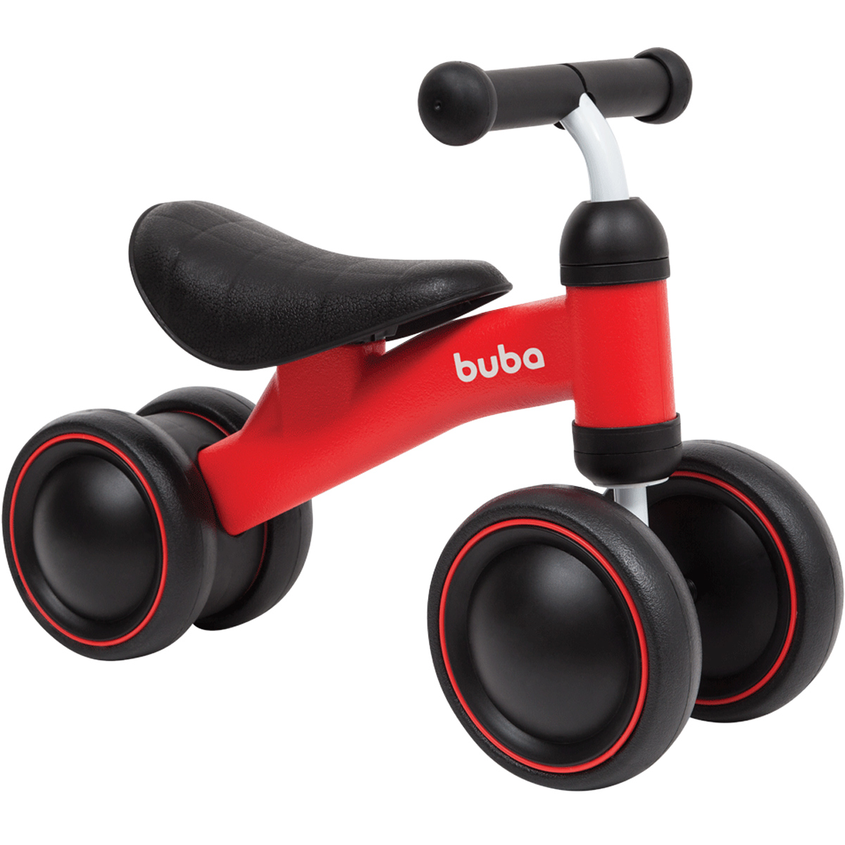 Bicicleta De Equilíbrio 4 Rodas Vermelha Buba
