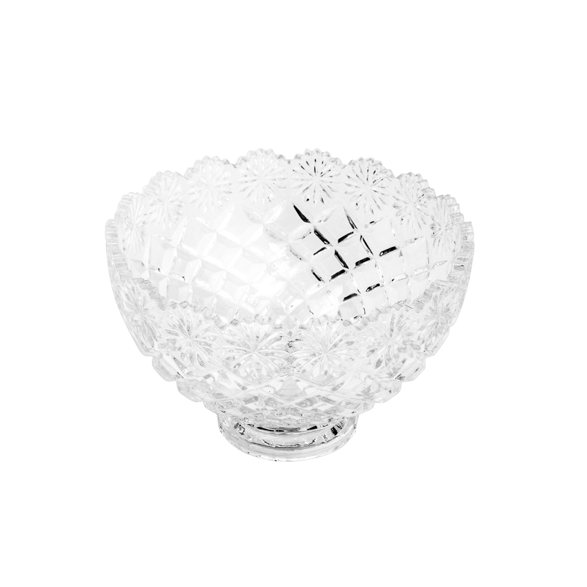 Bowl De Cristal De Chumbo Diamond Star Lyor