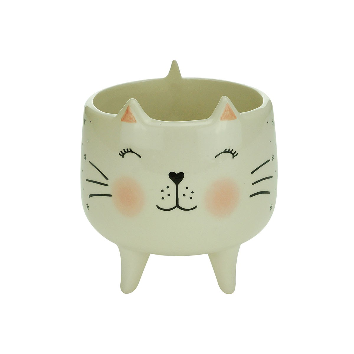 Cachepot De Cerâmica Charmy Cat Grande Urban