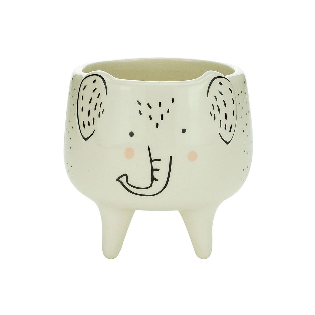 Cachepot De Cerâmica Charmy Elephant Pequeno Urban