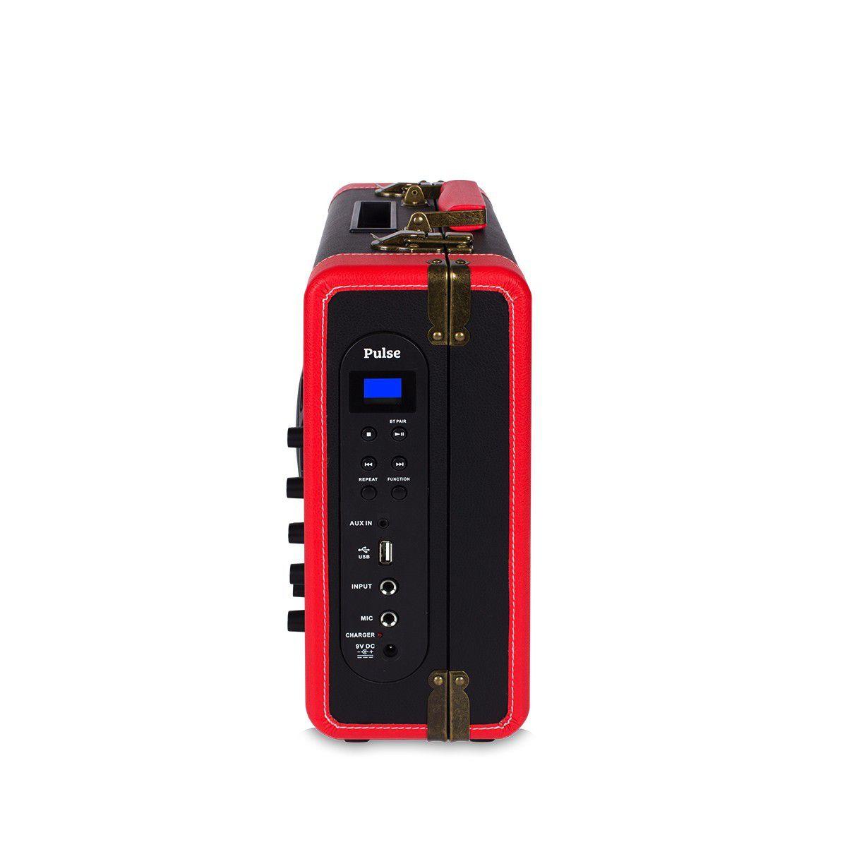 Caixa Amplificada Bluetooth 30w + Microfone + Entrada P10 Original