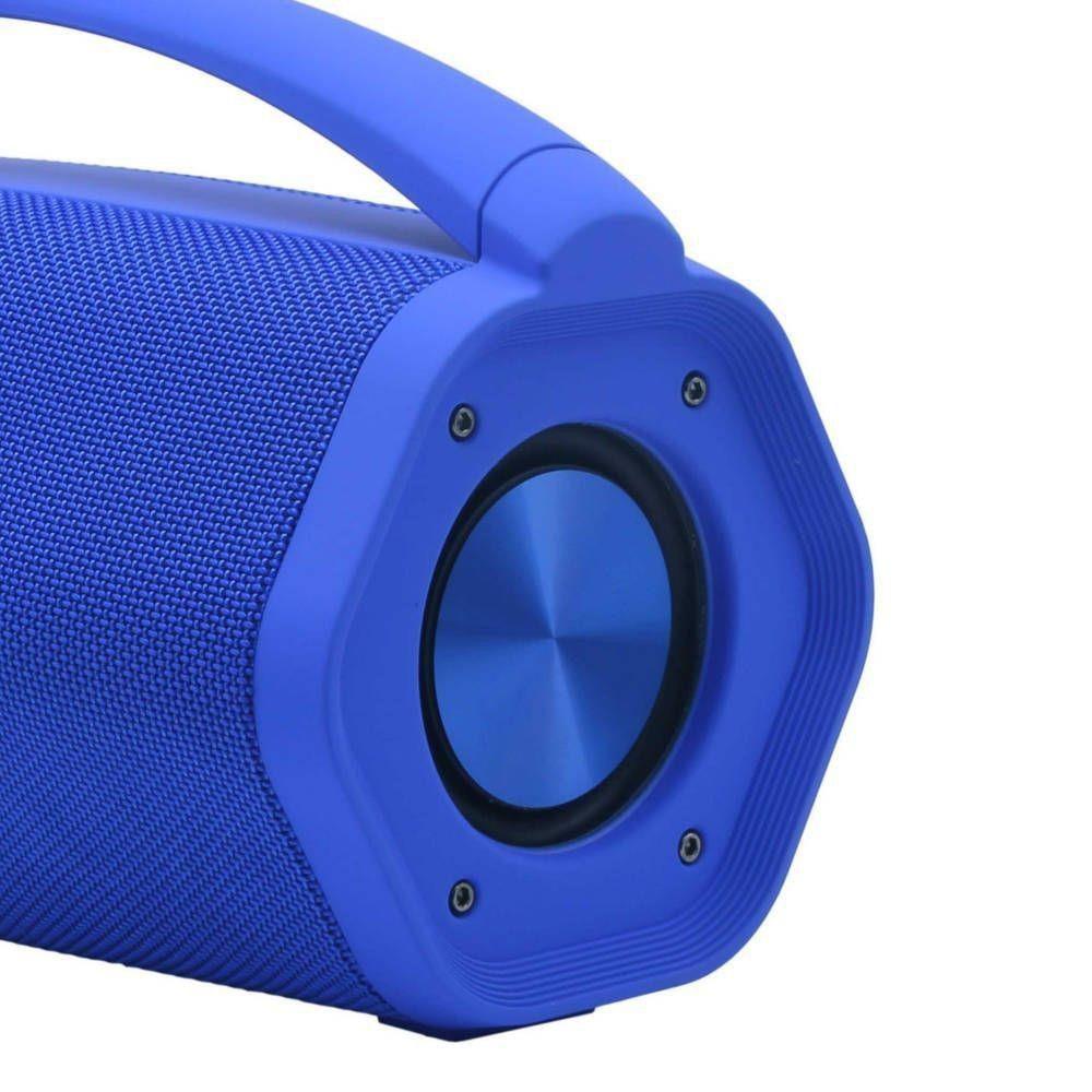 Caixa de Som Aqua Boom Azul Bluetooth 16W RMS Toca até 10h