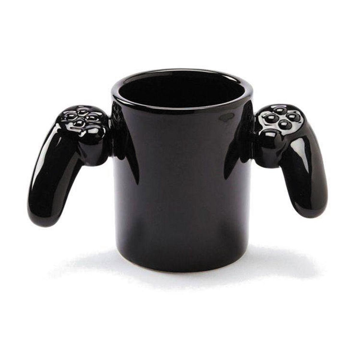 Caneca Cerâmica Joystick Game Over 3D  500ml Black
