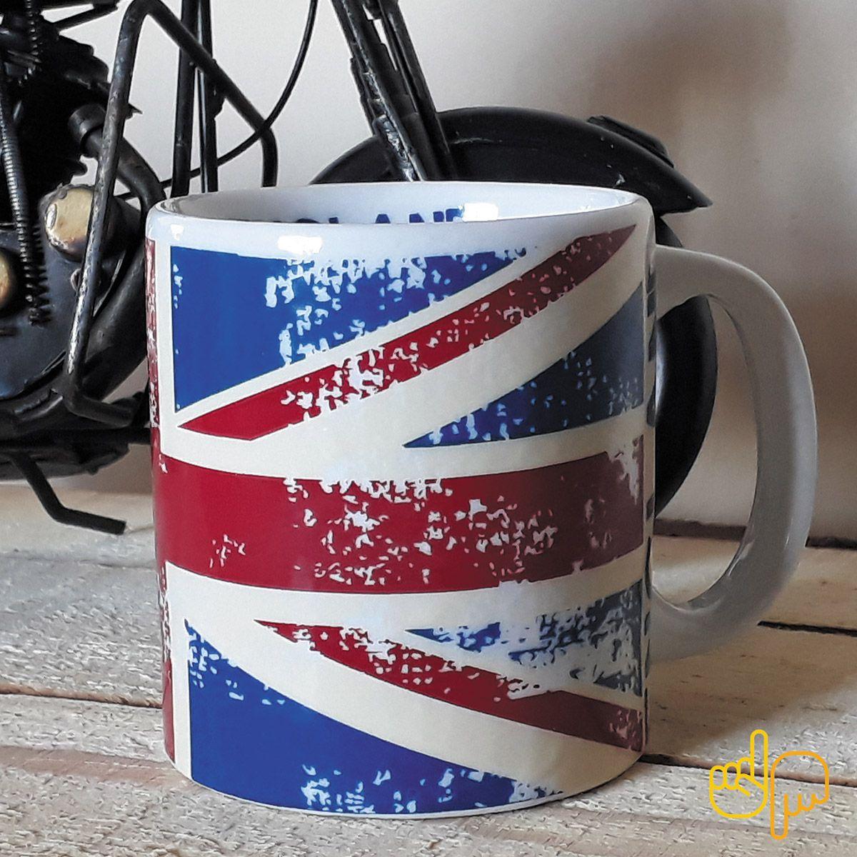 Caneca de cerâmica temática Bandeira Inglesa