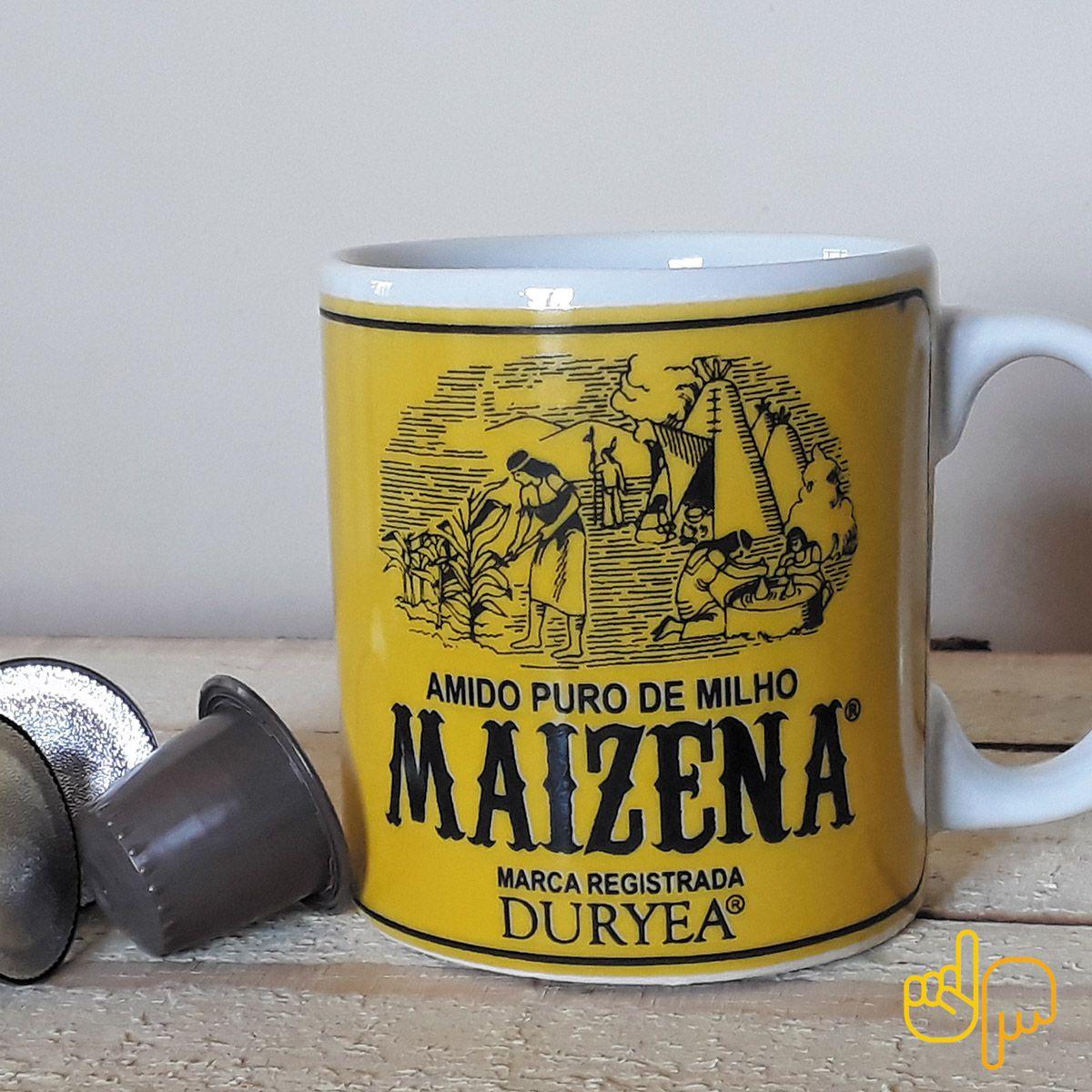 Caneca de cerâmica temática Maizena.