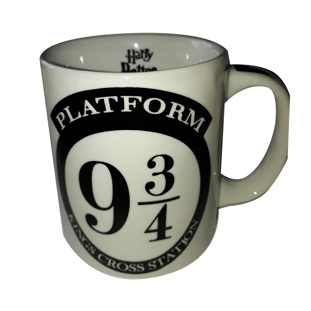 Caneca Lúdica Harry Potter 9/3-4 Branco 300ML