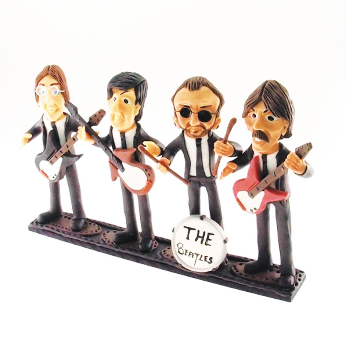 Caricatura feita a mão da banda The Beatles peça única
