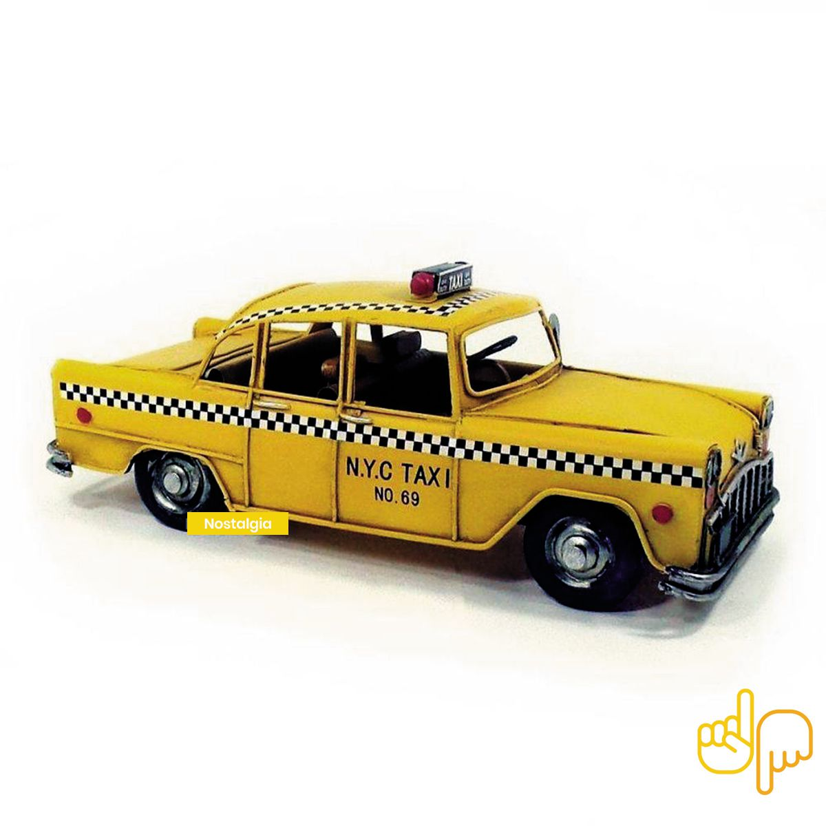 Carro de Metal Pura Nostalgia Taxi Nova York N.Y.C 69