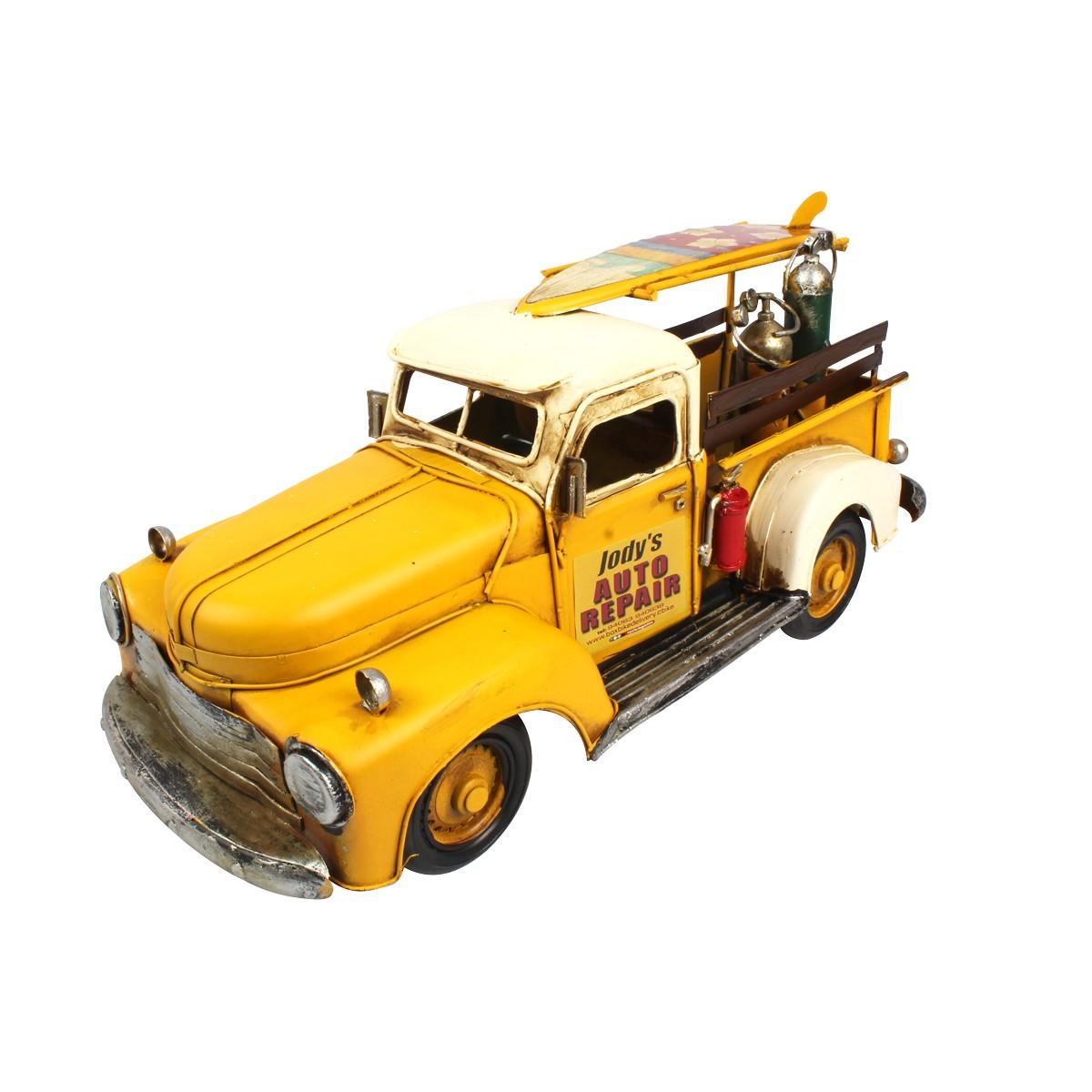 Carro de Metal Retrô Jody´s Auto Repair Chevrolet 1953 Amarelo