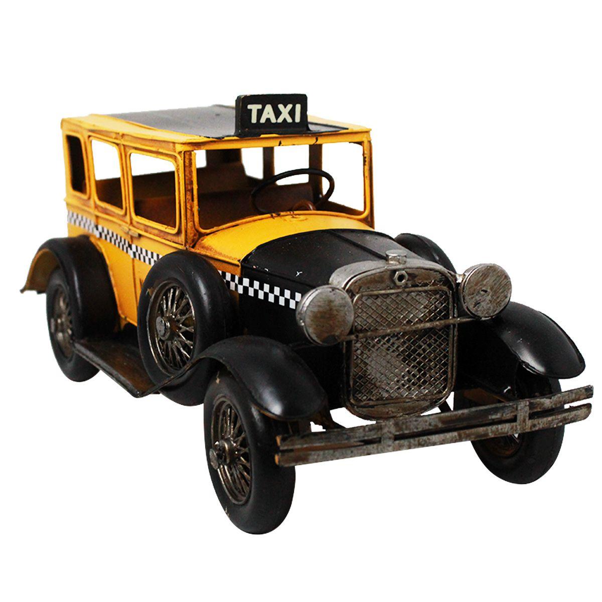 Carro de Metal Retrô - Taxi New York City Nº69