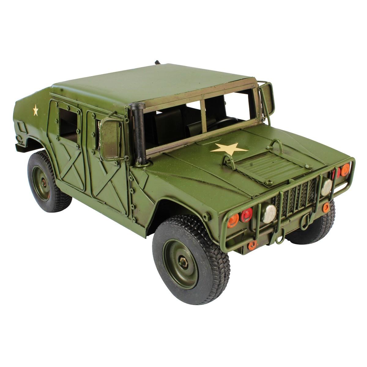 Colecionável Carro De Metal Militar Retrô HMMWV