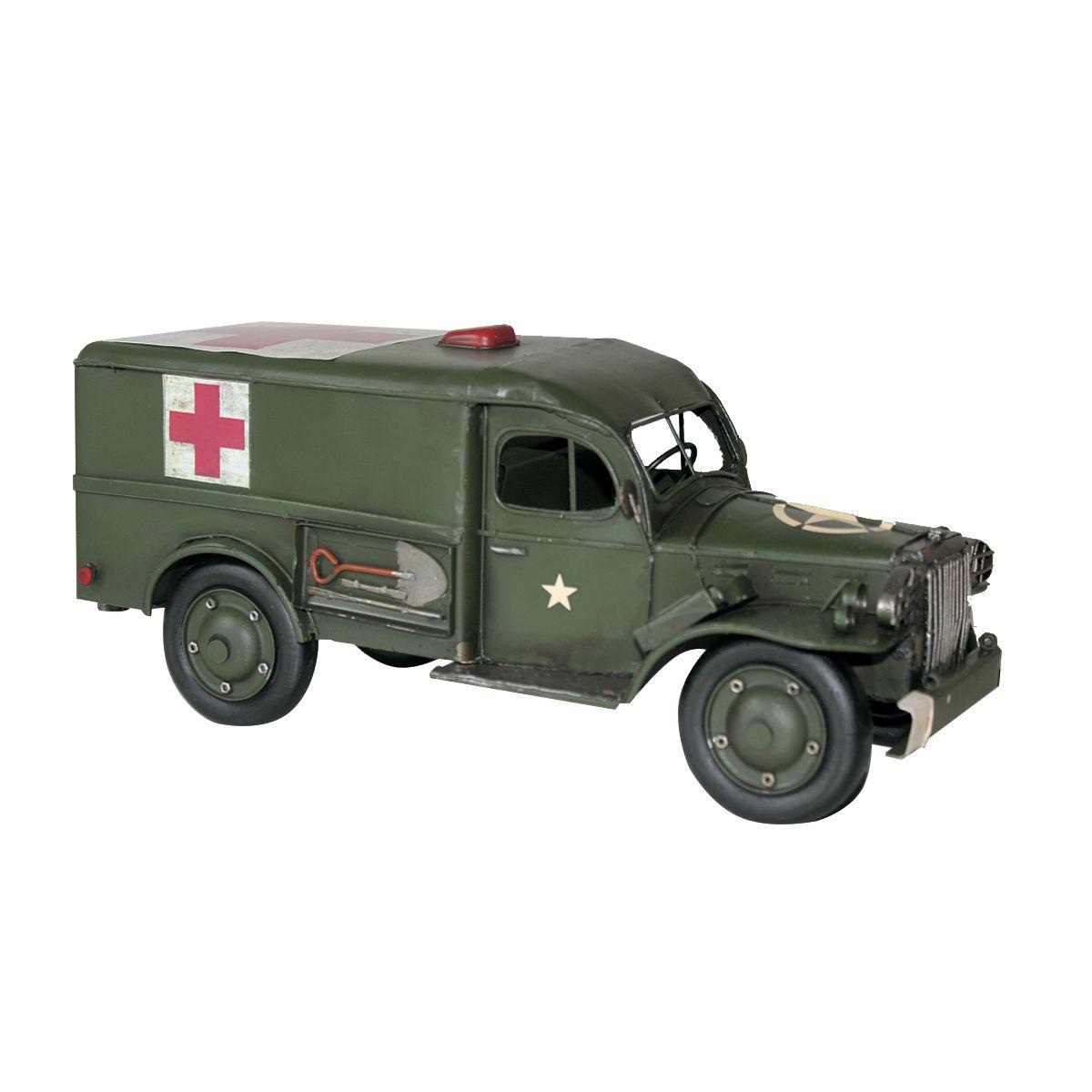 Colecionável  de Metal Ambulância Militar Dodge WC 1954 Retrô