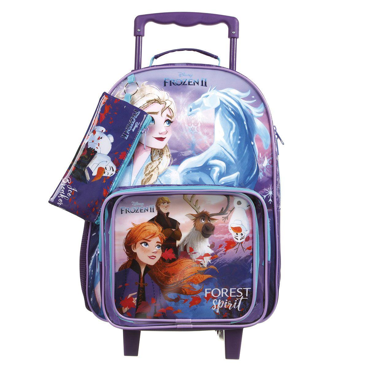 Kit Mochilete Escolar Frozen II Disney + Lancheira + Estojo Oficial