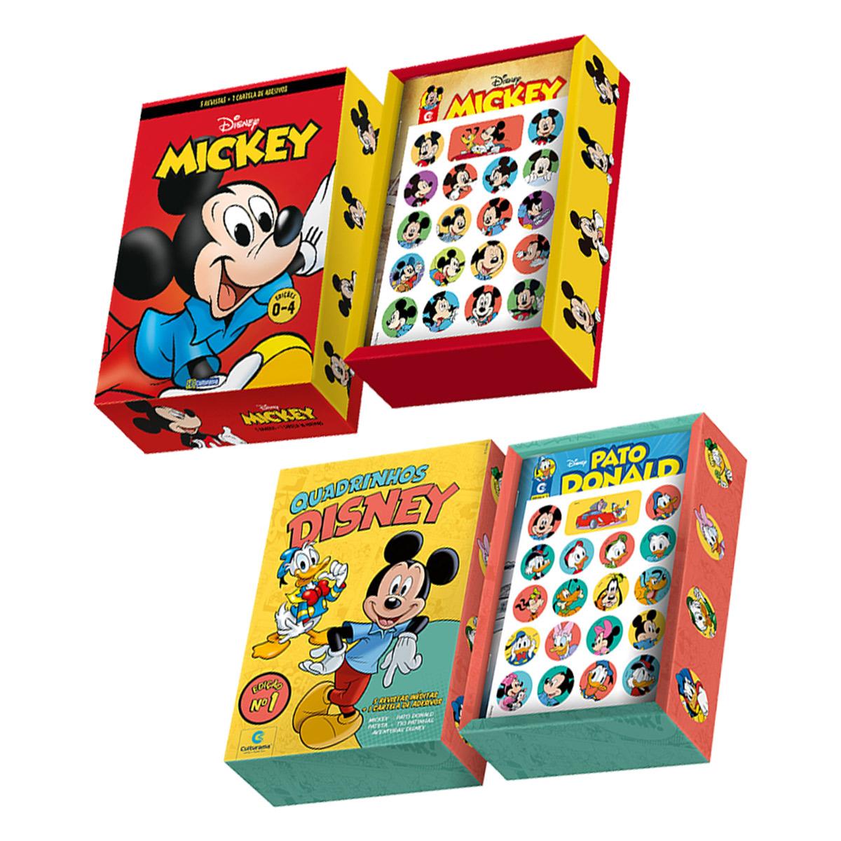 Conj Box De Livros HQ Mickey Mouse Edição 1 + Edição 0 a 4