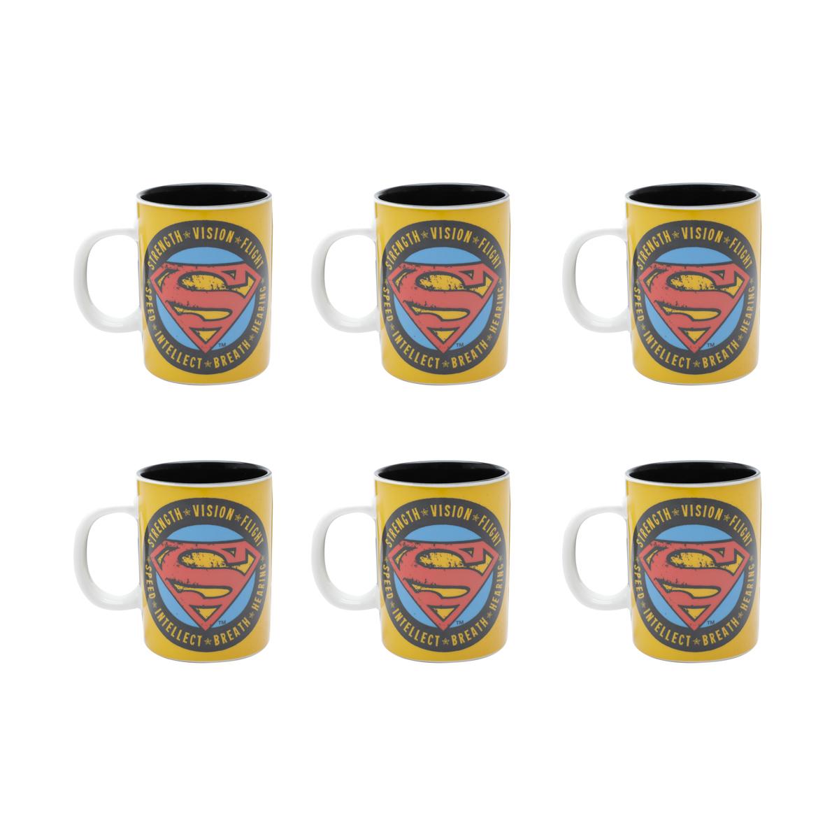 Conjunto Café Expresso - 6 Mini Canecas Superman Urban