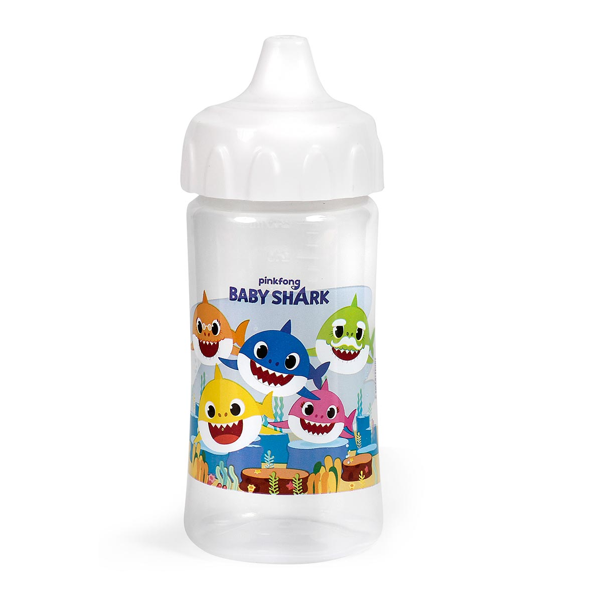 Copo C/ Redutor De Pingos + Tampa Baby Shark BabyGo Premium