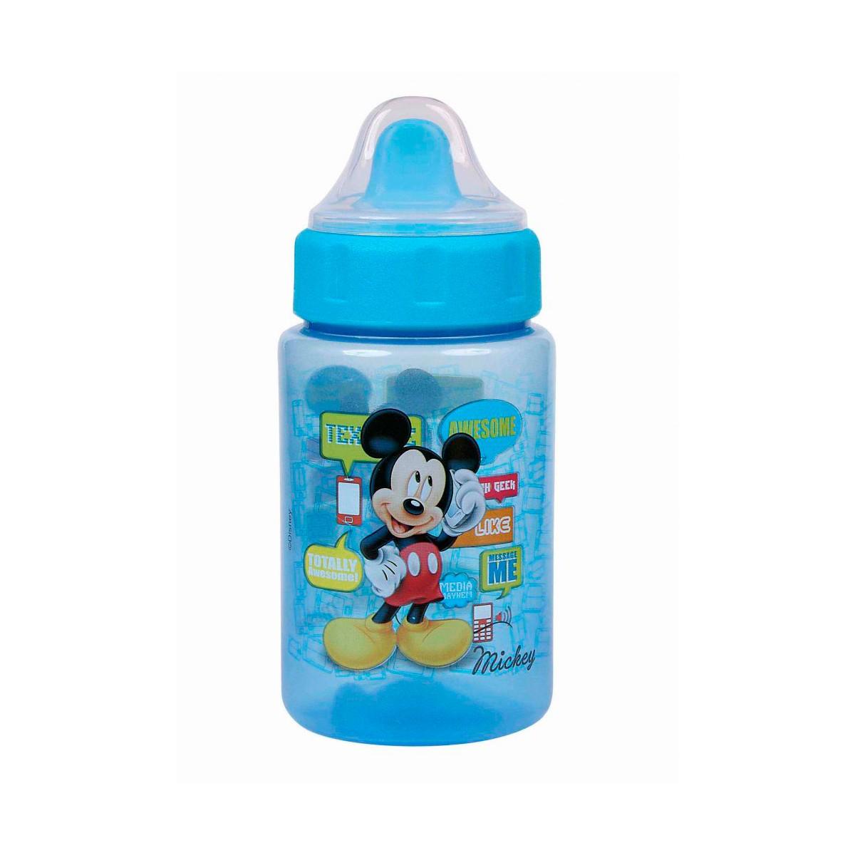 Copo C/ Redutor De Pingos + Tampa Mickey BabyGo Premium