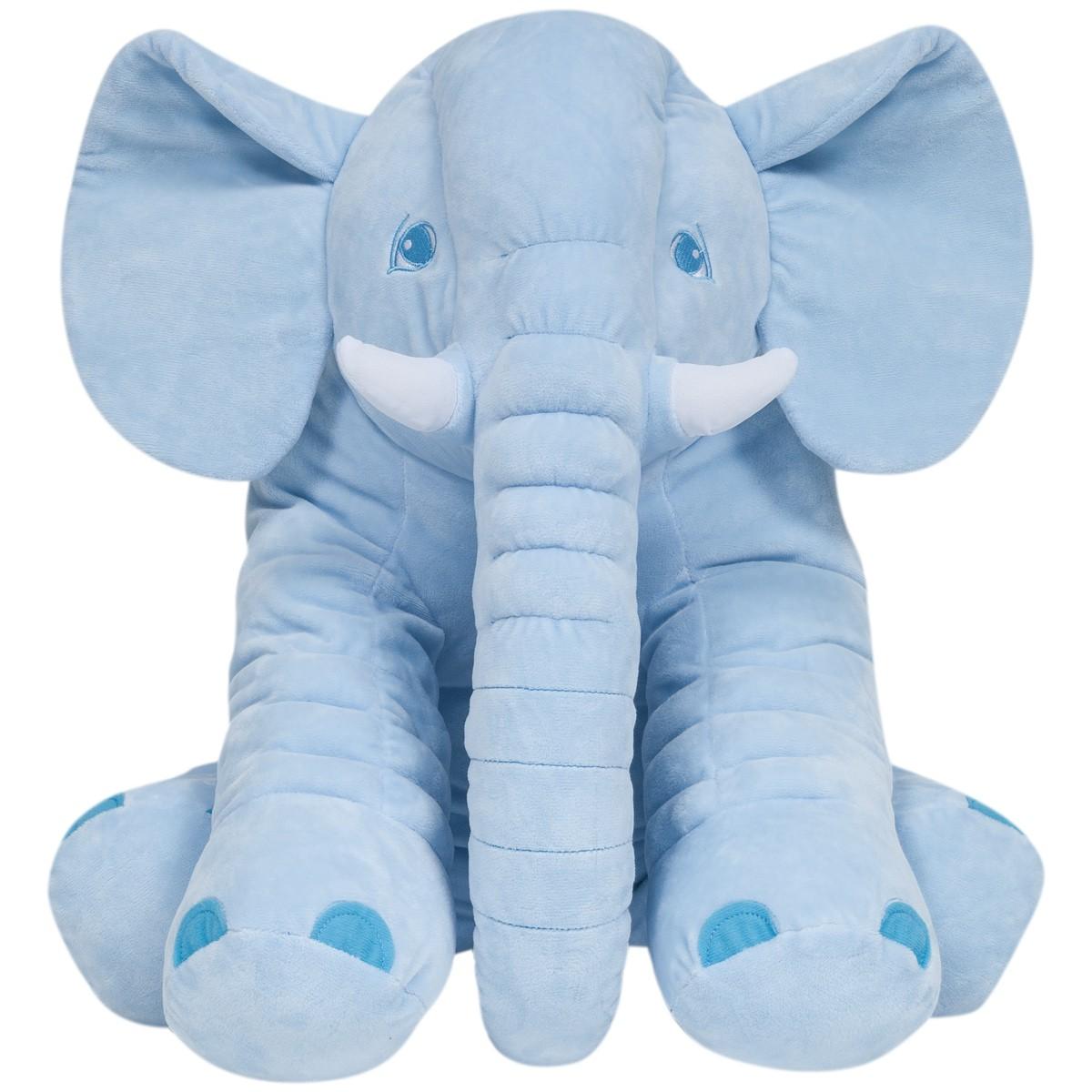 Elefante De Pelúcia Gigante Azul Buba