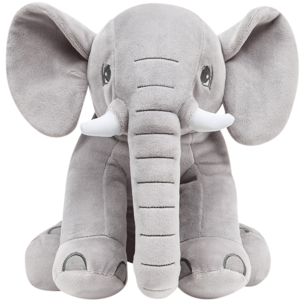 Elefantinho De Pelúcia Cinza Buba