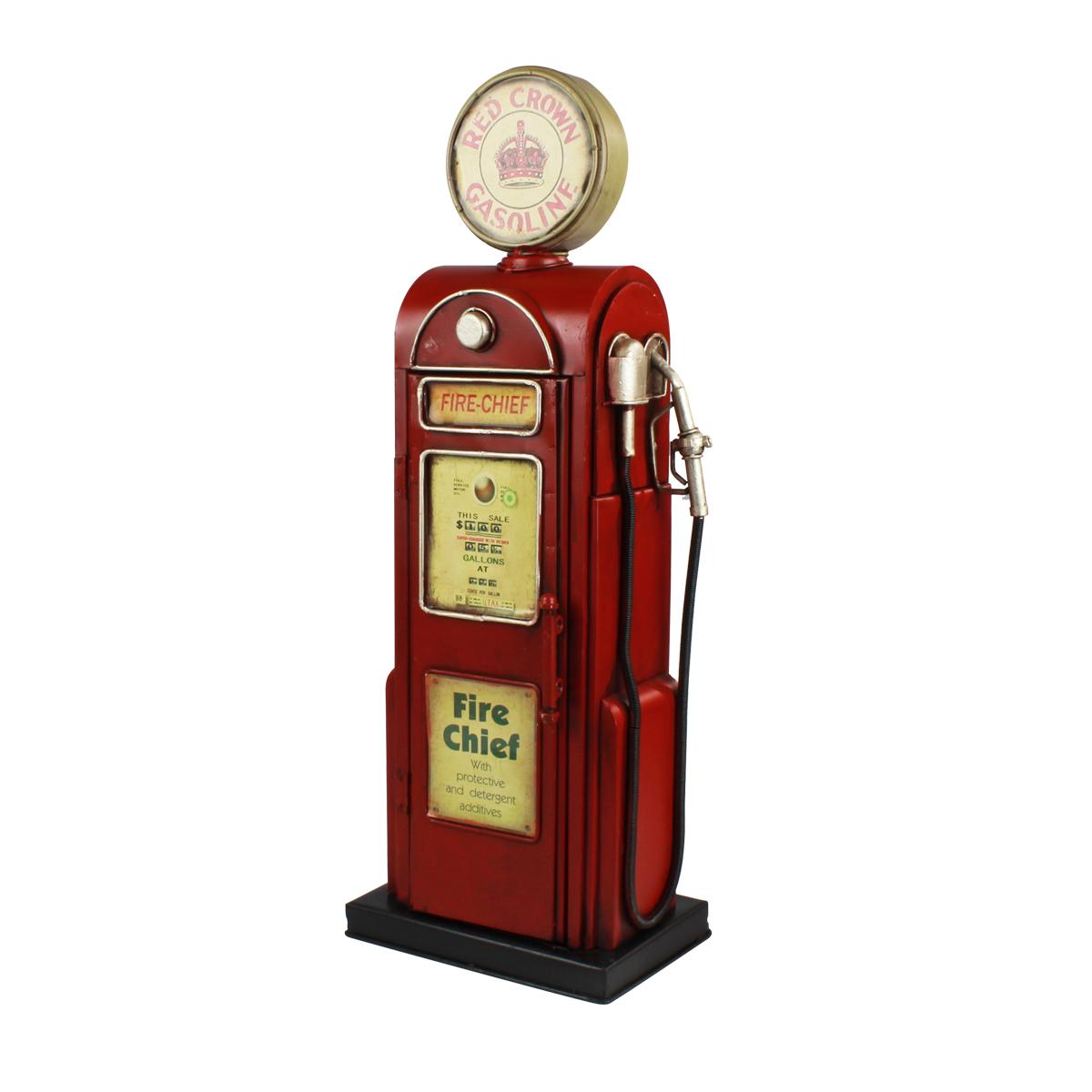 Enfeite De Mesa De Metal Red Crown Gasoline 52cm Verito