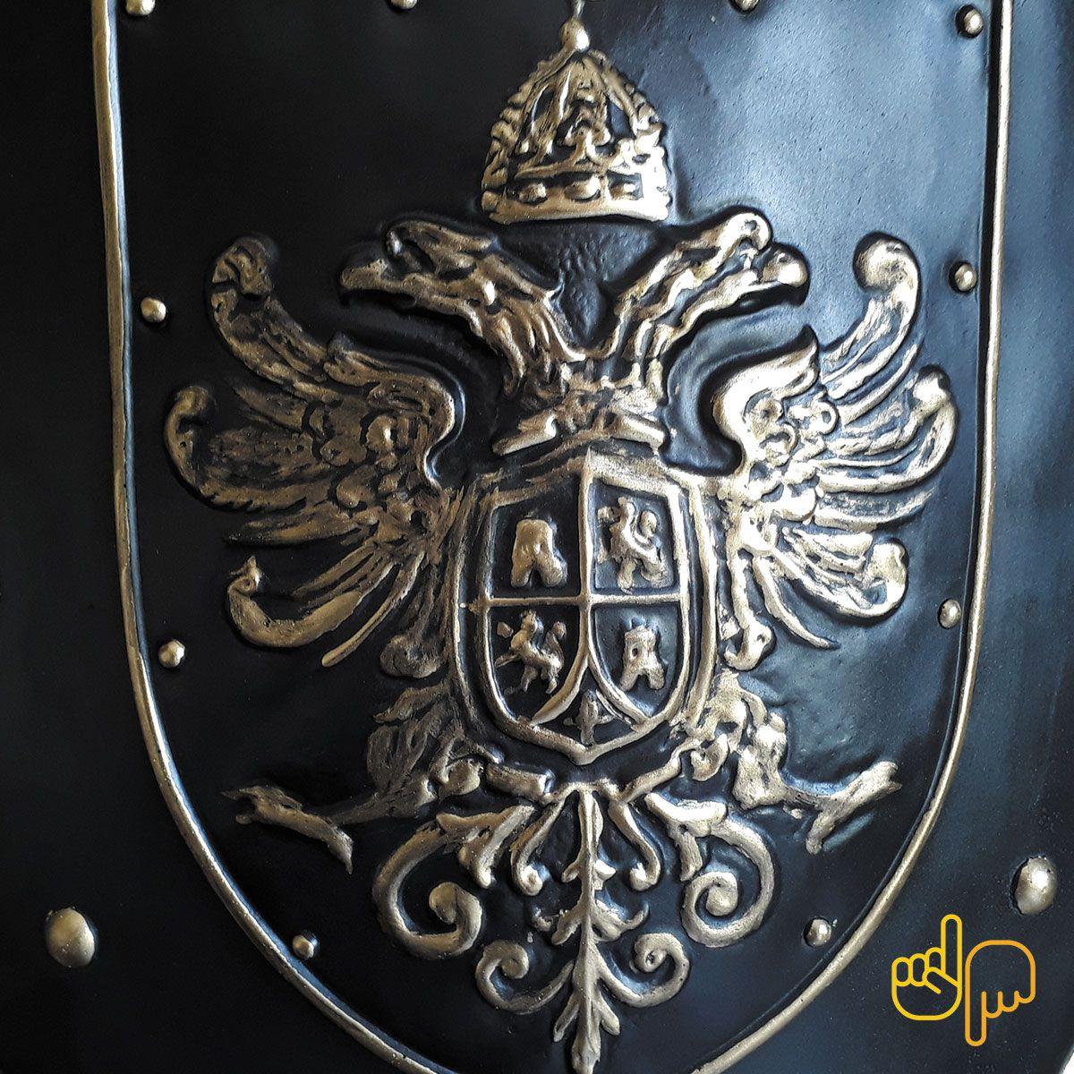 Escudo de Parede Medieval Mod. Àguia Bicéfala
