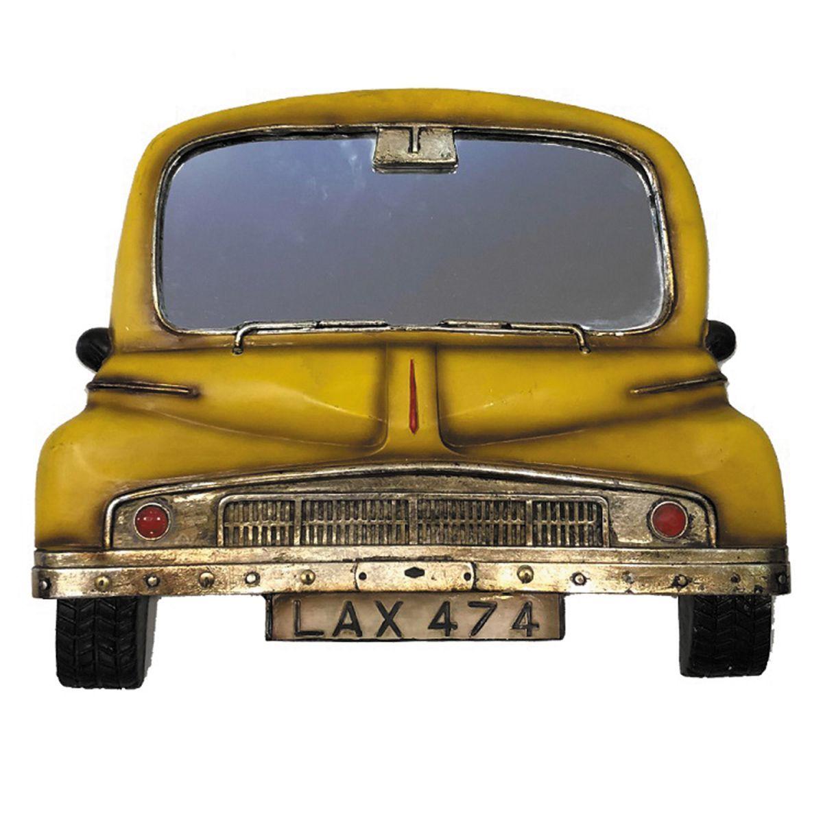 Espelho de Carro Pura Nostalgia cor Amarelo Envelhecido placa LAX-474